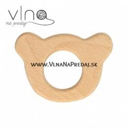 Drevený krúžok medveď